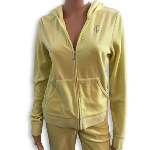 Juicy Couture Velour Full Zip Hoodie Size XL